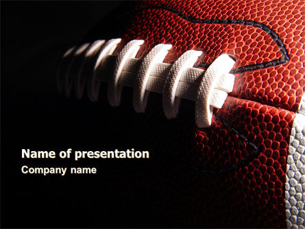 American Ball Lacing PowerPoint Template, 07239, Sports — PoweredTemplate.com