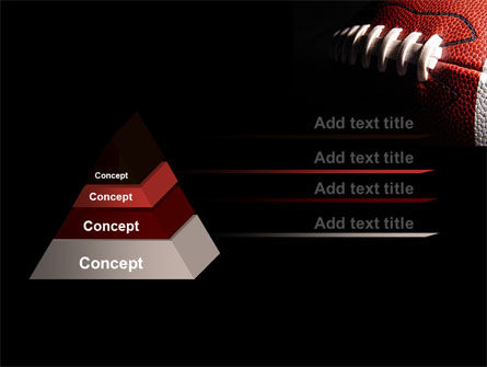 American Ball Lacing PowerPoint Template, Slide 4, 07239, Sports — PoweredTemplate.com