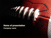 Sports: American Ball Lacing PowerPoint Template #07239