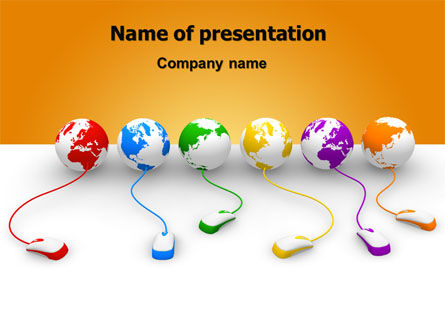 Connected to World PowerPoint Template, 07240, Technology and Science — PoweredTemplate.com