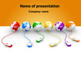 Technology and Science: Connected to World PowerPoint Template #07240