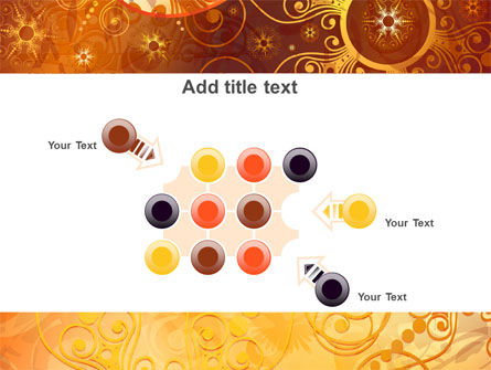 Yellow Ornaments Theme PowerPoint Template Slide 10