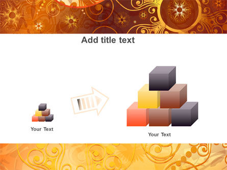 Yellow Ornaments Theme PowerPoint Template Slide 13
