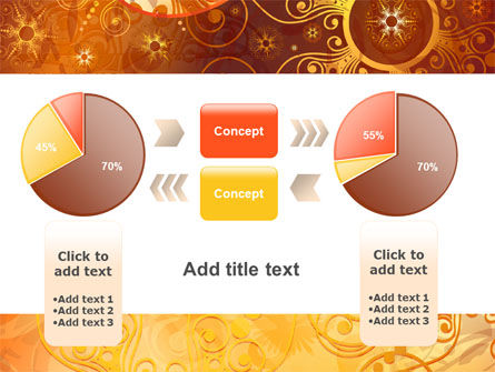 Yellow Ornaments Theme PowerPoint Template Slide 16