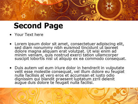 Yellow Ornaments Theme PowerPoint Template, Slide 2, 07241, Abstract/Textures — PoweredTemplate.com