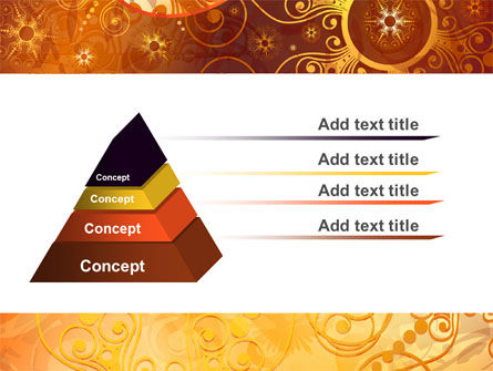 Yellow Ornaments Theme PowerPoint Template Slide 4