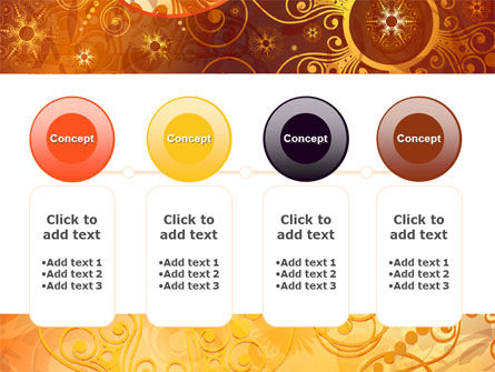 Yellow Ornaments Theme PowerPoint Template Slide 5