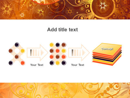 Yellow Ornaments Theme PowerPoint Template Slide 9