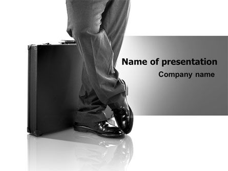 Business Briefcase PowerPoint Template, 07242, Business — PoweredTemplate.com