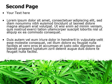 Cannabis PowerPoint Template, Slide 2, 07243, Legal — PoweredTemplate.com