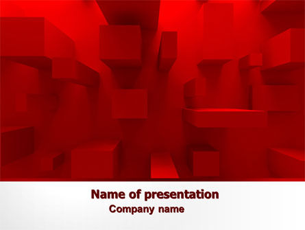 Red 3D Figures PowerPoint Template