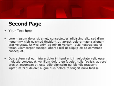 Red 3D Figures PowerPoint Template Slide 2