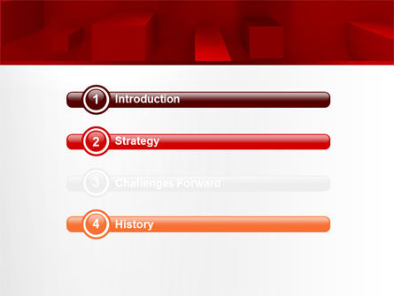 Red 3D Figures PowerPoint Template Slide 3
