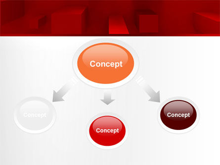 Red 3D Figures PowerPoint Template Slide 4