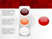 Red 3D Figures PowerPoint Template#11