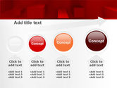 Red 3D Figures PowerPoint Template#13
