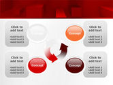 Red 3D Figures PowerPoint Template#9