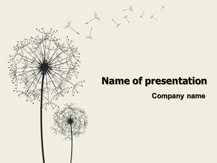 Nature & Environment: Dandelion Clock PowerPoint Template #07245