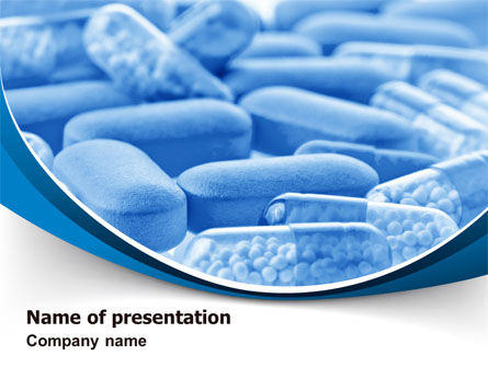 Medical: Blue Pills PowerPoint Template #07248