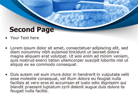 Blue Pills PowerPoint Template Slide 2