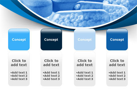 Blue Pills PowerPoint Template Slide 5