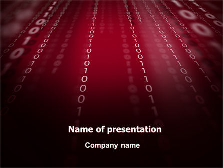 Binary Strings PowerPoint Template, 07249, Technology and Science — PoweredTemplate.com