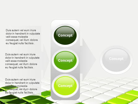 Green Square PowerPoint Template Slide 11