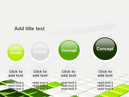 Green Square PowerPoint Template Slide 13