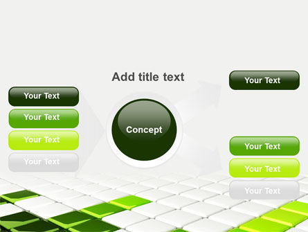 Green Square PowerPoint Template Slide 14