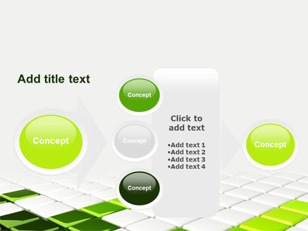 Green Square PowerPoint Template Slide 17