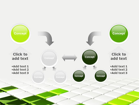 Green Square PowerPoint Template Slide 19