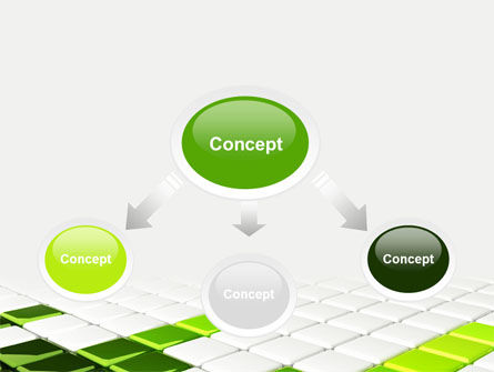 Green Square PowerPoint Template Slide 4