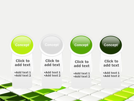 Green Square PowerPoint Template Slide 5