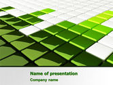 Abstract/Textures: Green Square PowerPoint Template #07250