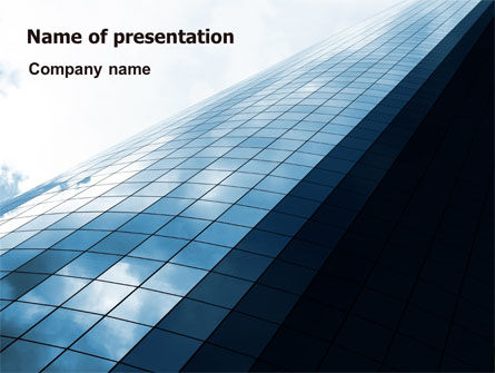 hi tech building powerpoint template backgrounds 07251