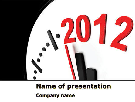 Holiday/Special Occasion: Time of 2012 PowerPoint Template #07252