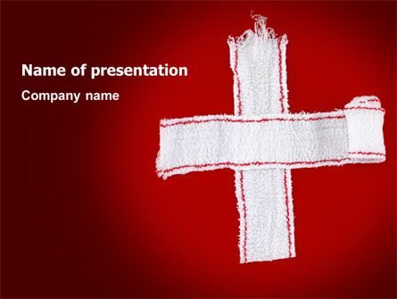 Medical: White Cross PowerPoint Template #07253