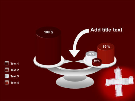 White Cross PowerPoint Template Slide 10
