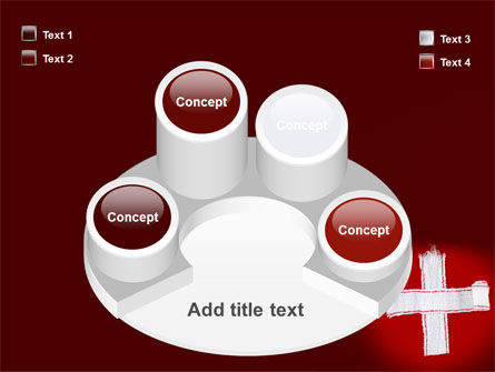White Cross PowerPoint Template Slide 12