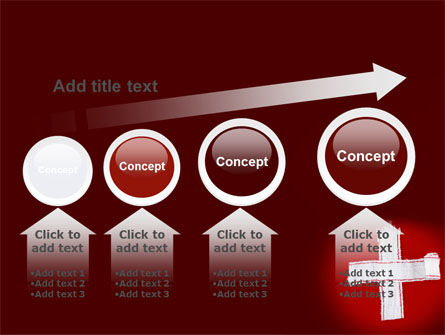 White Cross PowerPoint Template Slide 13
