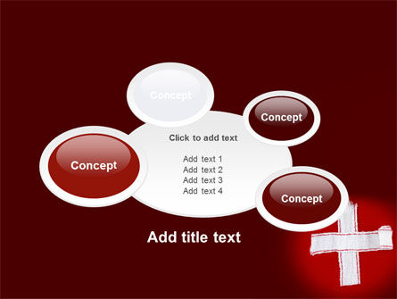 White Cross PowerPoint Template Slide 16