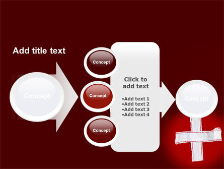 White Cross PowerPoint Template Slide 17