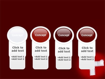 White Cross PowerPoint Template Slide 5