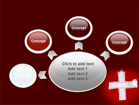 White Cross PowerPoint Template Slide 7