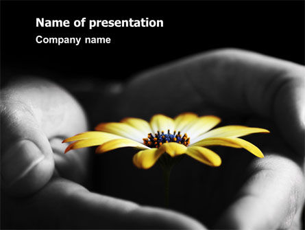 Open Flower PowerPoint Template, 07254, Religious/Spiritual — PoweredTemplate.com