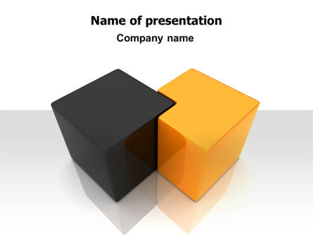 Figure Intersection PowerPoint Template, 07256, Consulting — PoweredTemplate.com