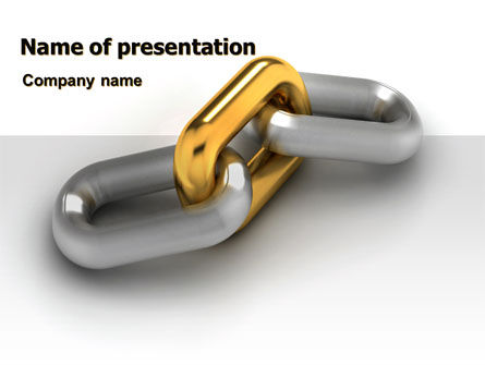 Link PowerPoint Template, 07257, Consulting — PoweredTemplate.com