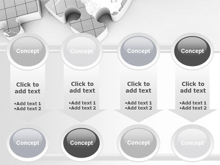 Continents As Puzzle PowerPoint Template Slide 18