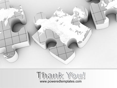 Continents As Puzzle PowerPoint Template Slide 20