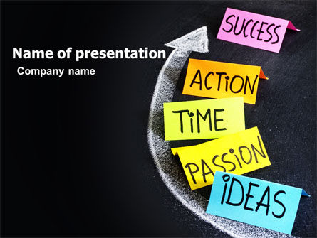 From Ideas to Success PowerPoint Template, 07260, Education & Training — PoweredTemplate.com